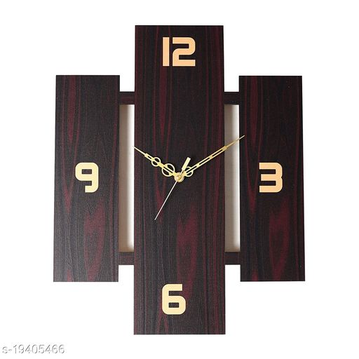 Singh Brothers - Wooden Silent Quartz Movement Wall Clock for Home Big Size Living Room Hall Bedroom