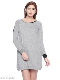 Cult Fiction Grey Dress For Women'S