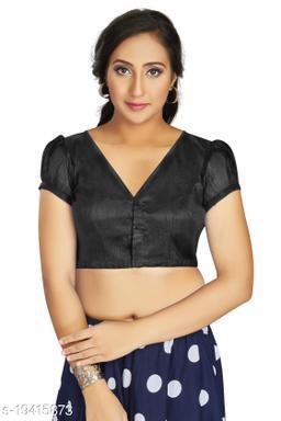 Aastha Womens Desinger Art silk Black Blouse