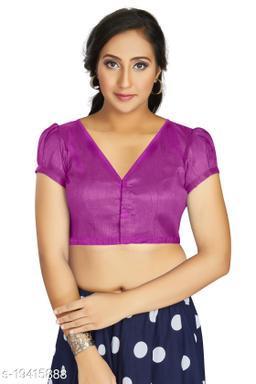 Aastha Womens Desinger Art silk Dark Rani Blouse