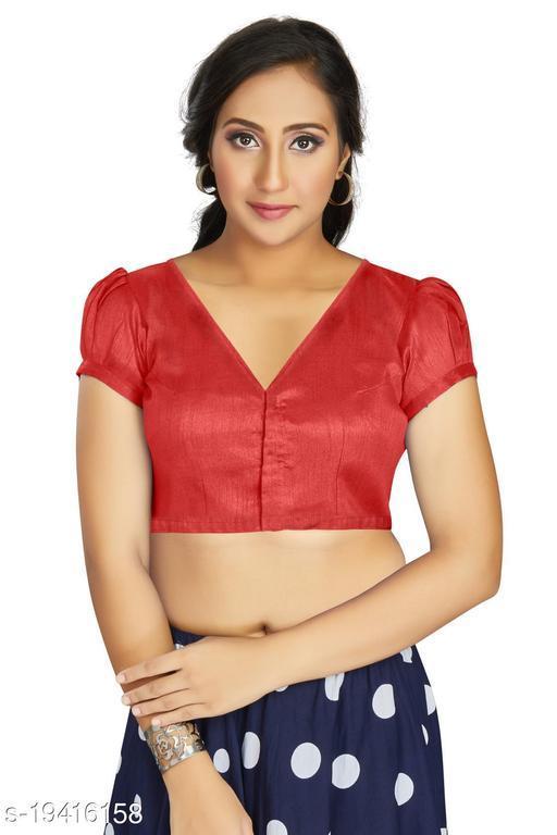 Aastha Womens Desinger Art silk Red Blouse