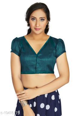 Aastha Womens Desinger Art silk Teal Green Blouse