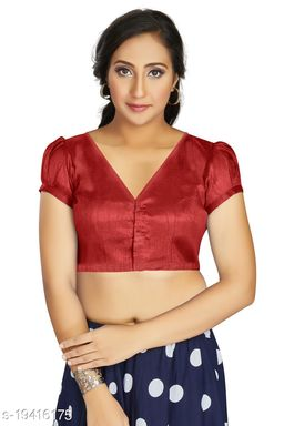 Aastha Womens Desinger Art silk Maroon Blouse
