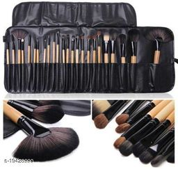 KylieProfessional 24 PIECE JET BLACK MAKE UP BRUSH SET WITH FREE CASE  (Pack of 24)