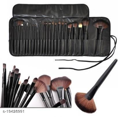 Rhv Makeup Brush Set with PU Leather Case  (Pack of 24)