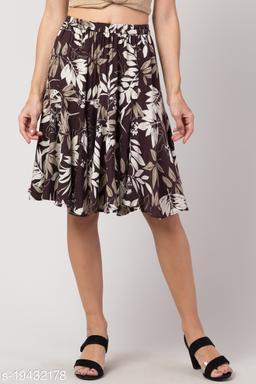 Brown Mini Skirt for Women