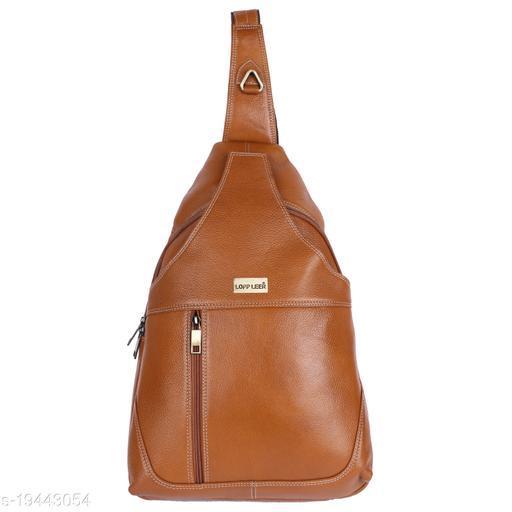 Lopp Leer 100% Pure Genuine Premium Ndm Leather Spacious Formal 18 Litre Backpack Laptop Office Bag, Coffee