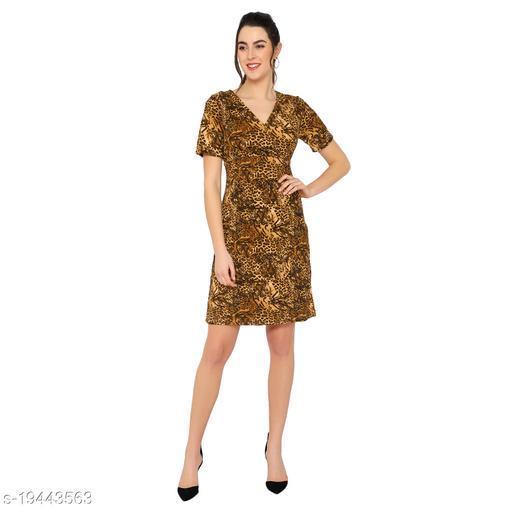 Casual short sleevee yellow dress