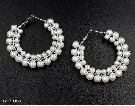 Strigehne Double Layer Pearl hoop earrings