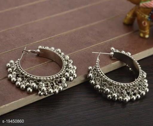 Strigehne Ghungroo Silver Hoop Earrings