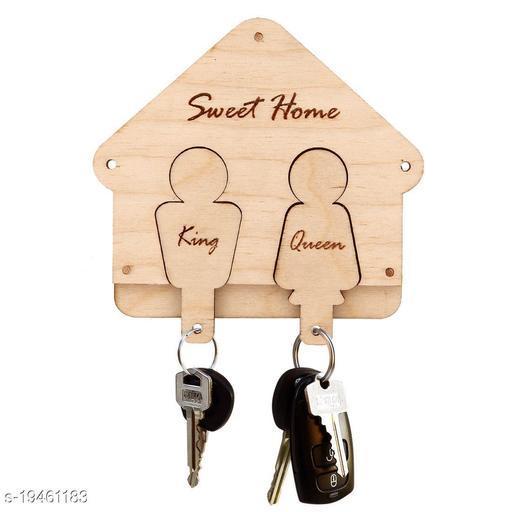 Wooden Wall Decorative Key Holder,Artworks Home Side Shelf Brown KeyHolder Wooden Key Holder