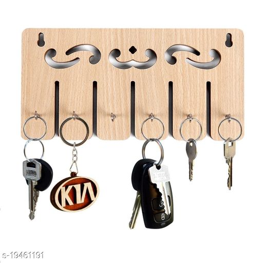Wooden Wall Decorative Key Holder