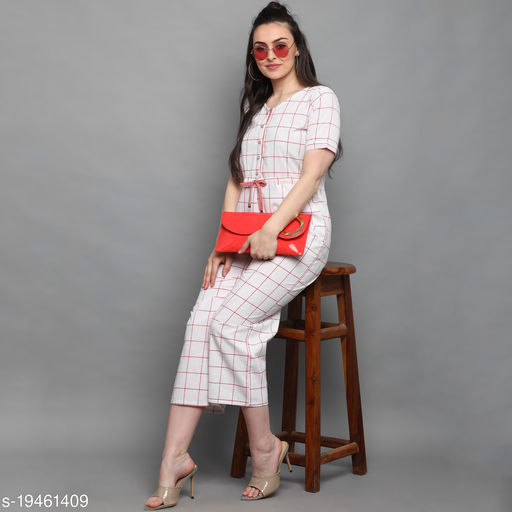 Women's soild Cotton Jumpsuit