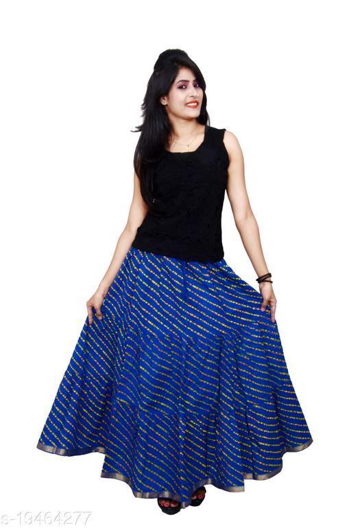 DIAMO Leheriya Rajasthani Print traditional ethnic Wear Long Skirt