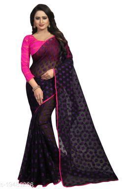 Women's ethnic wear purple colour saree