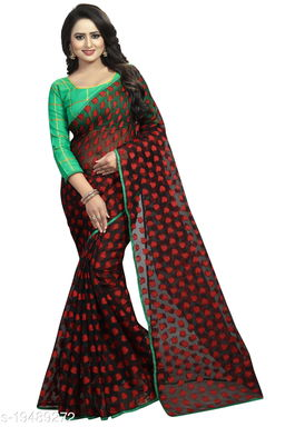 Women's ethnic wear red colour saree