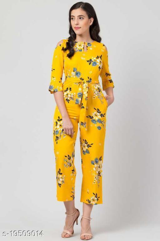 Trendy Crepe Fashion Hub crepe jumpsuit