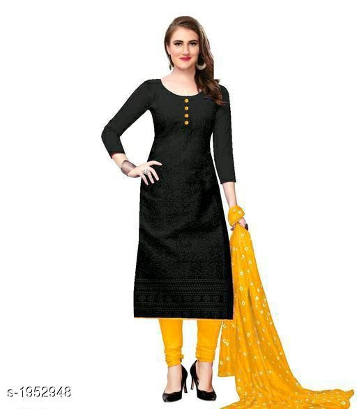 Kurta Sets Voguish Cotton Chikankari Kurtis With Dupatta  *Fabric* Kurti - Cotton , Dupatta - Cotton  *Sleeves* Sleeves Are Included  *Size* Kurti - M - 38 in, L - 40 in, XL - 42 in, XXL - 44 in , Dupatta - 2.25 Mtr  *Length* Up To 48 in  *Type* Stitched  *Description* It Has 1 Piece Of Women's Kurti With Dupatta  *Work* Chikankari Work  *Sizes Available* M, L, XL, XXL, XXXL, 4XL, 5XL, 6XL   Catalog Rating: ★3.8 (644) Supplier Rating: ★3.8 (12612) SKU: 101-GOLDEN Shipping charges: Rs49 (Non-refundable) Pkt. Weight Range: 500  Catalog Name: Abhisarika Voguish Cotton Chikankari Kurtis With Dupattas - CROP FASHIONS Code: 803-1952948--