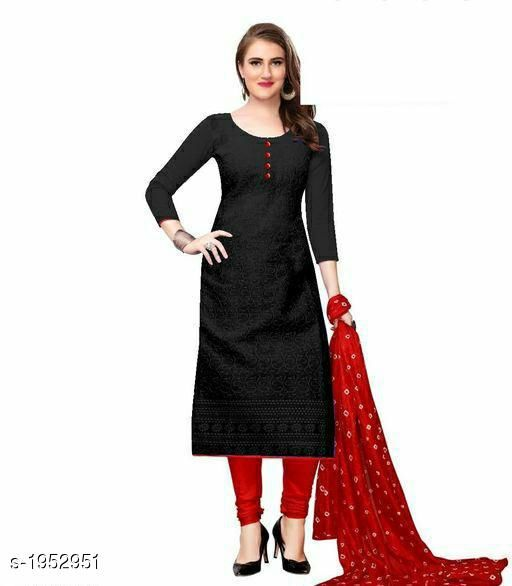 Kurta Sets Voguish Cotton Chikankari Kurtis With Dupatta  *Fabric* Kurti - Cotton , Dupatta - Cotton  *Sleeves* Sleeves Are Included  *Size* Kurti - M - 38 in, L - 40 in, XL - 42 in, XXL - 44 in , Dupatta - 2.25 Mtr  *Length* Up To 48 in  *Type* Stitched  *Description* It Has 1 Piece Of Women's Kurti With Dupatta  *Work* Chikankari Work  *Sizes Available* M, L, XL, XXL, XXXL, 4XL, 5XL, 6XL   Catalog Rating: ★3.8 (641) Supplier Rating: ★3.8 (12458) SKU: 101-RED Shipping charges: Rs49 (Non-refundable) Pkt. Weight Range: 500  Catalog Name: Abhisarika Voguish Cotton Chikankari Kurtis With Dupattas - CROP FASHIONS Code: 803-1952951--
