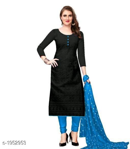 Kurta Sets Voguish Cotton Chikankari Kurtis With Dupatta  *Fabric* Kurti - Cotton , Dupatta - Cotton  *Sleeves* Sleeves Are Included  *Size* Kurti - M - 38 in, L - 40 in, XL - 42 in, XXL - 44 in , Dupatta - 2.25 Mtr  *Length* Up To 48 in  *Type* Stitched  *Description* It Has 1 Piece Of Women's Kurti With Dupatta  *Work* Chikankari Work  *Sizes Available* M, L, XL, XXL, XXXL, 4XL, 5XL   Catalog Rating: ★3.8 (641) Supplier Rating: ★3.8 (12458) SKU: 101-SKYBLUE Shipping charges: Rs49 (Non-refundable) Pkt. Weight Range: 500  Catalog Name: Abhisarika Voguish Cotton Chikankari Kurtis With Dupattas - CROP FASHIONS Code: 803-1952953--