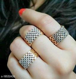 Trendy Fancy Alloy Rings