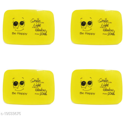 Be Happy School Set For Kids, 2 Containers Lunch Box for return gift(Pack of 4)