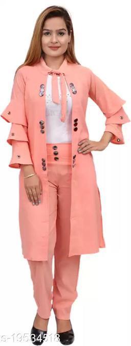 PerfectPivot Women's Three Piece Dress With Shrug
