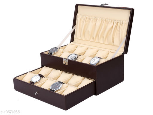 Best Storage Watch Box Organizer | Smart Watch Holder | Watch Display| Gift Box of Faux Leather for 20 watch Slots