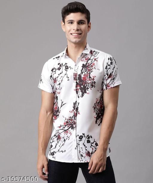 Rayon cool trending printed men's shirt