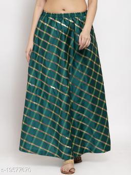 Clora Green Printed Maxi Skirt