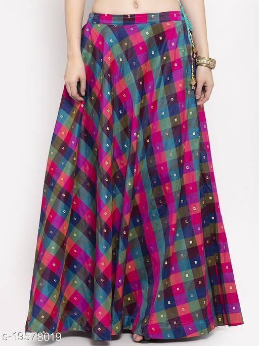 Clora Multicoloured Flared Skirt