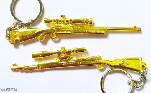 Rashuali PUBG PREMIUM Key Chain GOLD KAR98 & M24 (pack of 2) Key Chain Shining Gold