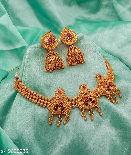 Allure Gold Plated Women's Jewellery Set
