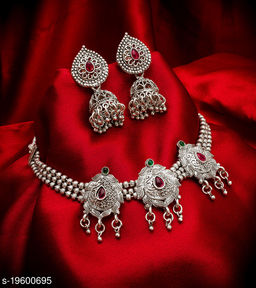 Shimmering Oxidized Women's Jewellery Set
