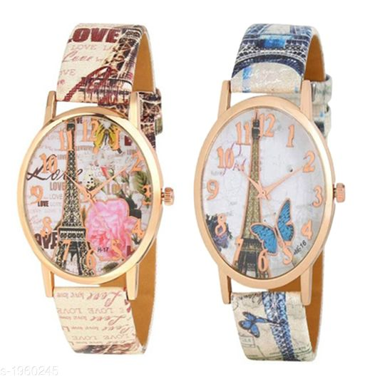 Attractive Women's Analog Watches ( Pack Of 2 )