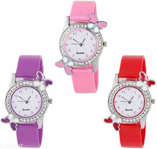 Attractive Women's Analog Watches ( Pack Of 3 )