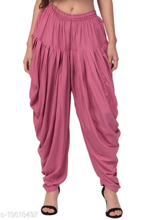 Pink Color Rayon Dhoti salwar