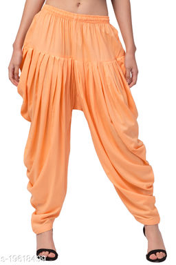 Peach Color Rayon Dhoti Salwar