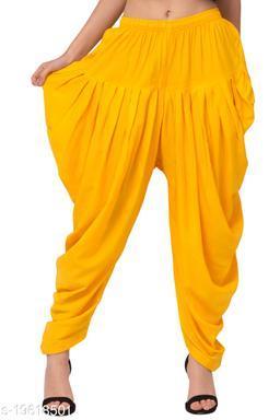 Yellow Color Rayon Dhoti Salwar