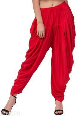 Red Color Rayon Dhoti Salwar