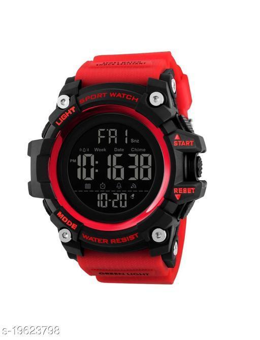New Latest Fashion Stylist Brand Digital Red Sport Watch