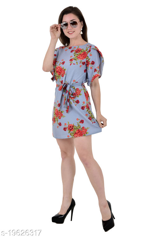 Umiko Women's Skater Flower Printed Dress