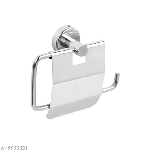 Panthera STAINLESS STEEL TOILET PAPER ROLL HOLDER FOR BATHROOM (SILVER)
