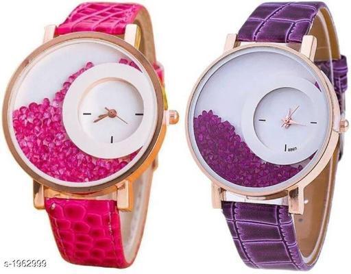 Stylish Leather Women's Watches Combo