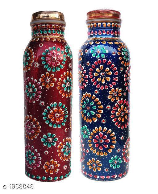 Copper Bottles (Pack Of 2)