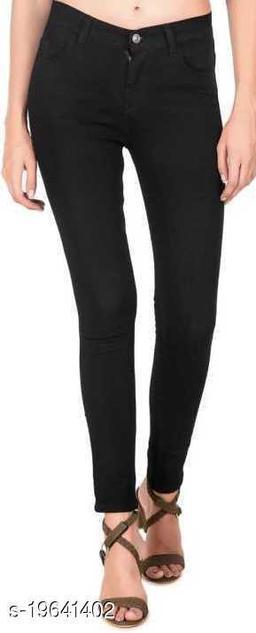 Spartacus2Fashion Women Slim Fit Black 1 Button Jeans (Pack of 1)