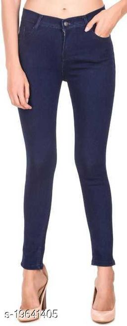Spartacus2Fashion Women Slim Fit Dark Blue 1 Button Jeans (Pack of 1)