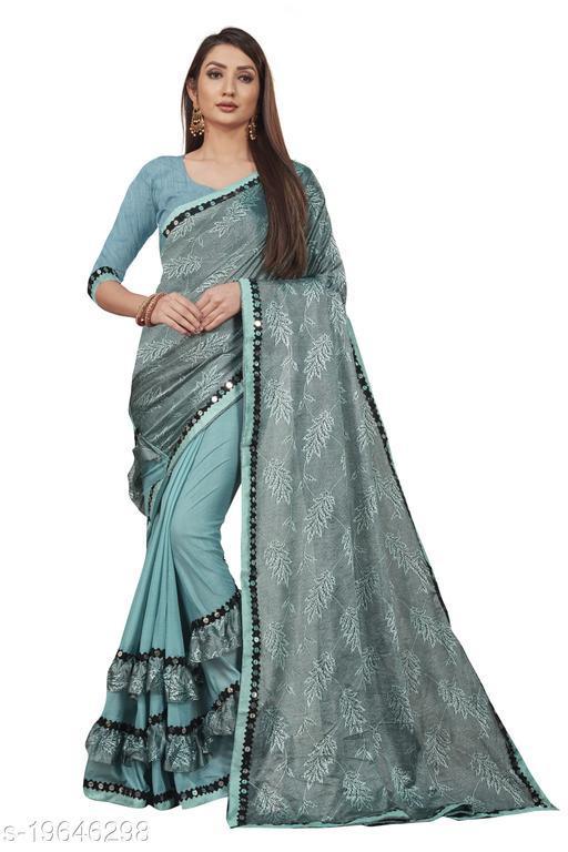 Likki Women's Laycra Malai Silk Saree