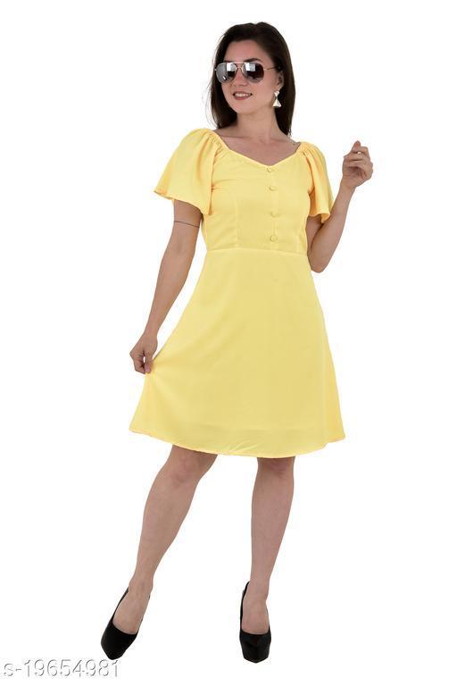 Umiko Women's A-Line Solid Color Dress