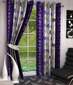Classic Polyester Printed Curtains